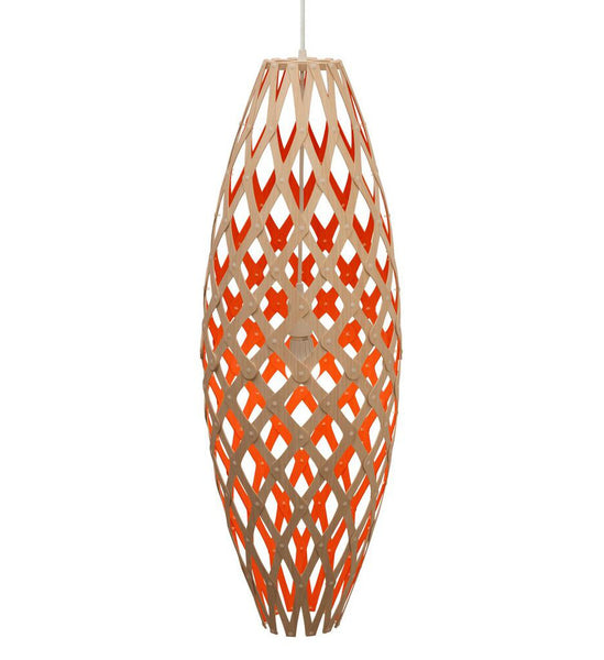 Hinaki light by David Trubridge in painted Red