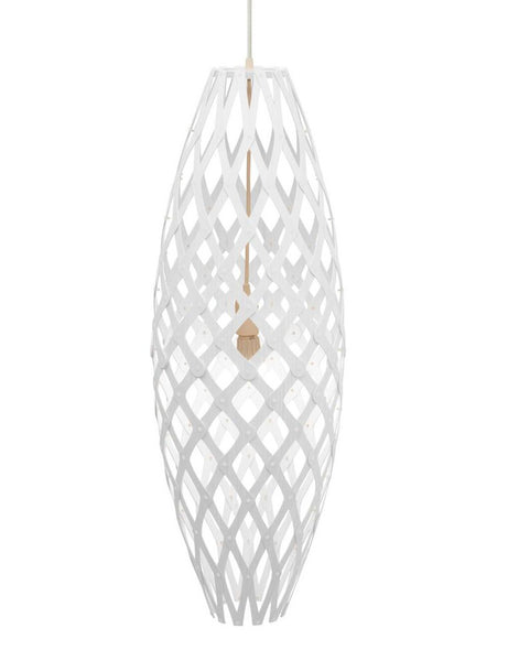 Hinaki light by David Trubridge in painted White Both Sides
