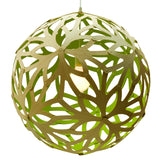 Floral light by David Trubridge in painted lime
