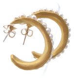 Small Gold Sea Pod Hoops