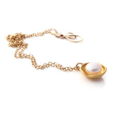 Gold Pearl Cap Necklace