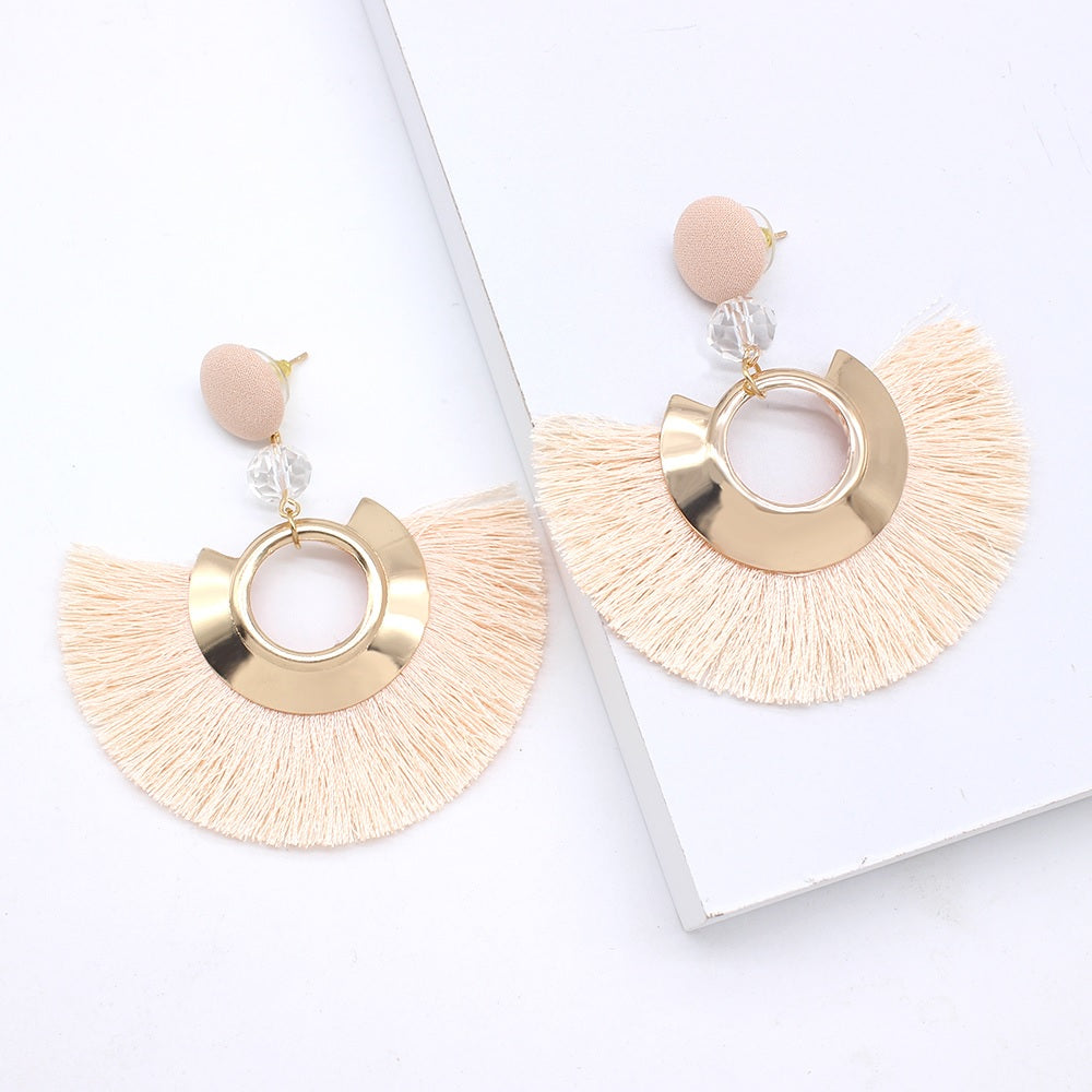 Cicly Drop Tassel Earrings