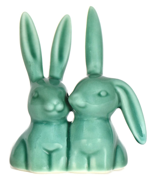 Teal Bunny Rabbit Ring Holder