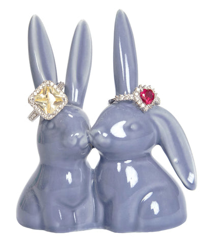 Purple Bunny Rabbit Ring Holder