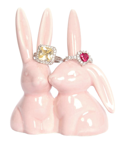 Pink Bunny Rabbit Ring Holder