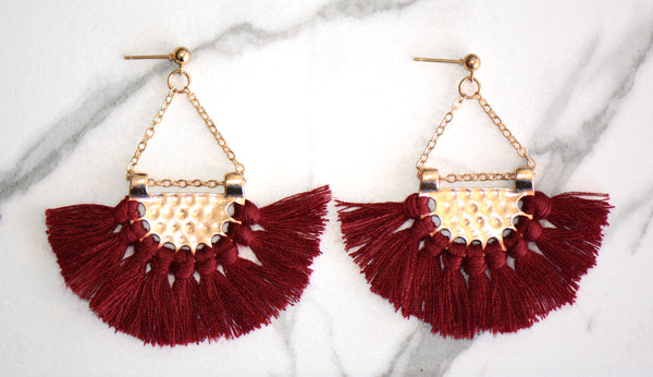 Clarah Mini Tassel Earrings