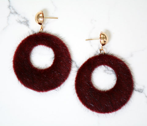 Luna Furry Dangle Earrings