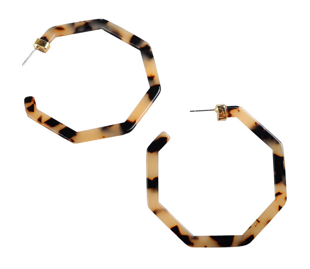 Jagger Tortoise Resin Hoops