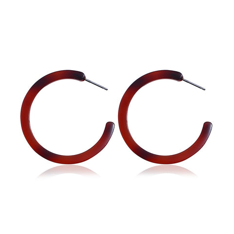 Faye Mini Resin Hoop Earring