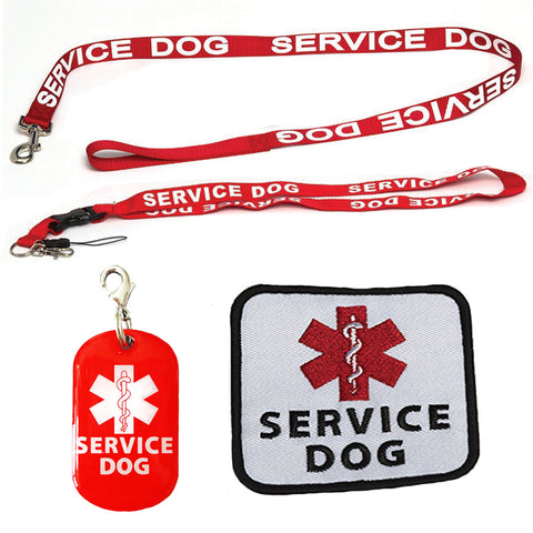 Service Dog Leash with Free Kit - Receive 3 Service Dog Bonuses - Medium to Large Dog