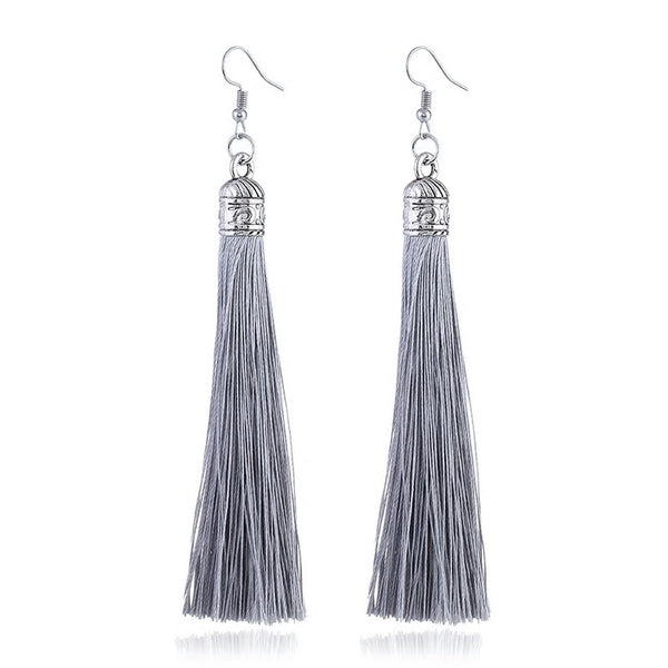 Kaya Long Tassel Earrings