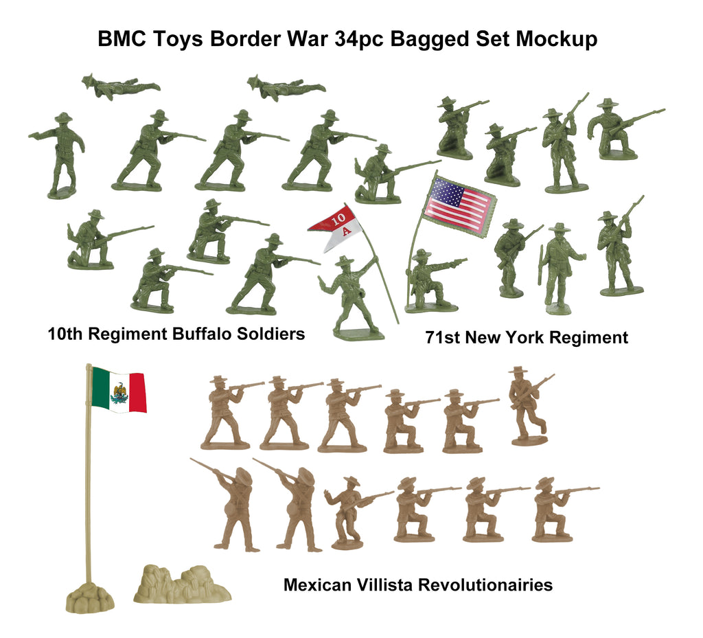 BMC Toys Border Wars 34 Piece Mockup
