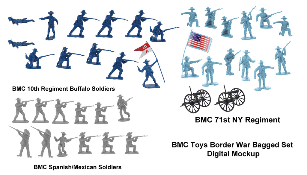 BMC Toys Border Wars Playset Mockup