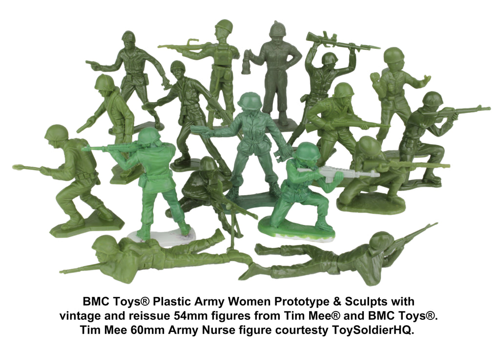 BMC Toys Plastic Army Women with Vintage Army Men