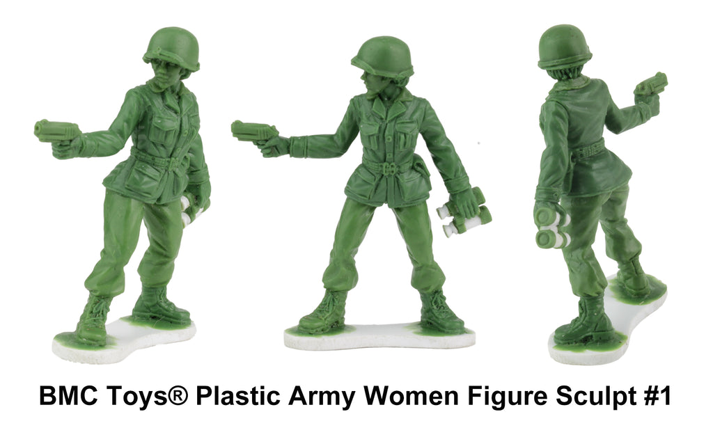 BMC Toys Plastic Army Women Captain Prototype Sculpture