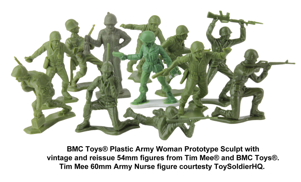 BMC Toys Plastic Army Women Prototype Compatibility Test
