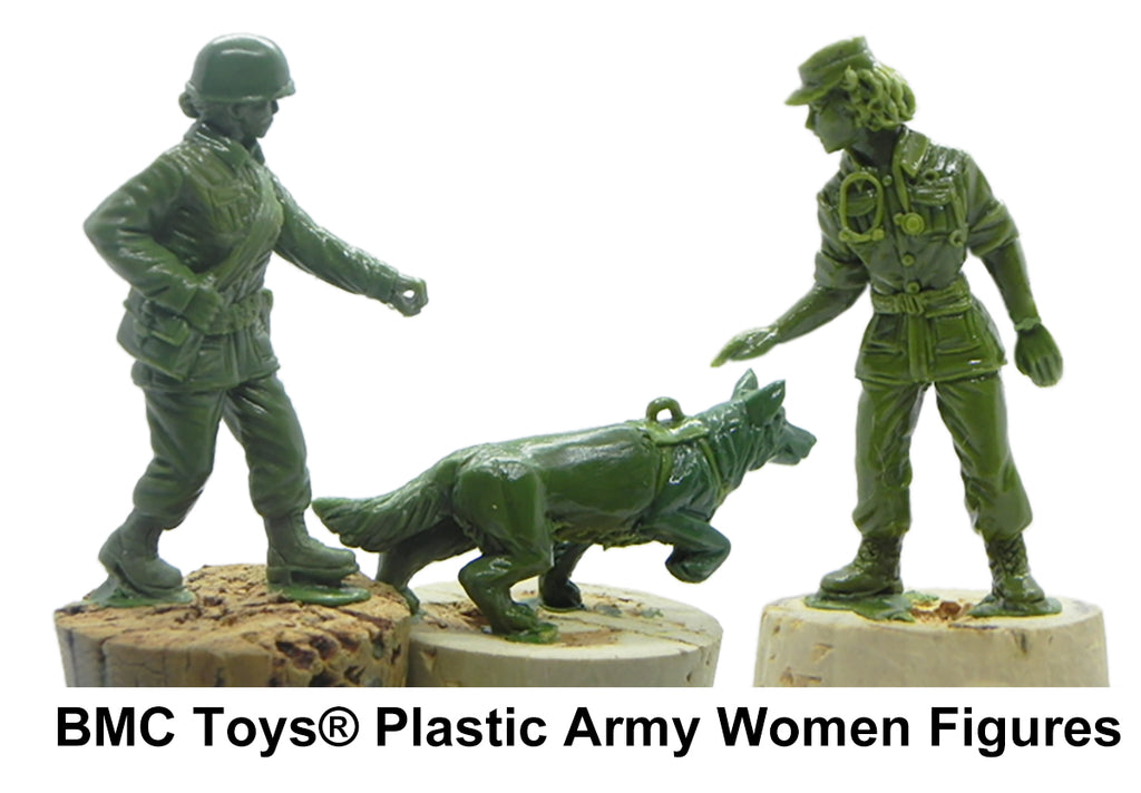 BMC Toys Plastic Army Women Sculpts Nurse Military Working Dog MWD Handler
