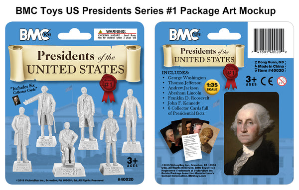 BMC Toys Presidents of the United States Package Art Mockup