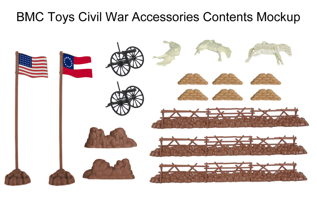 BMC Toys Civil War Accessories Contents Mockup