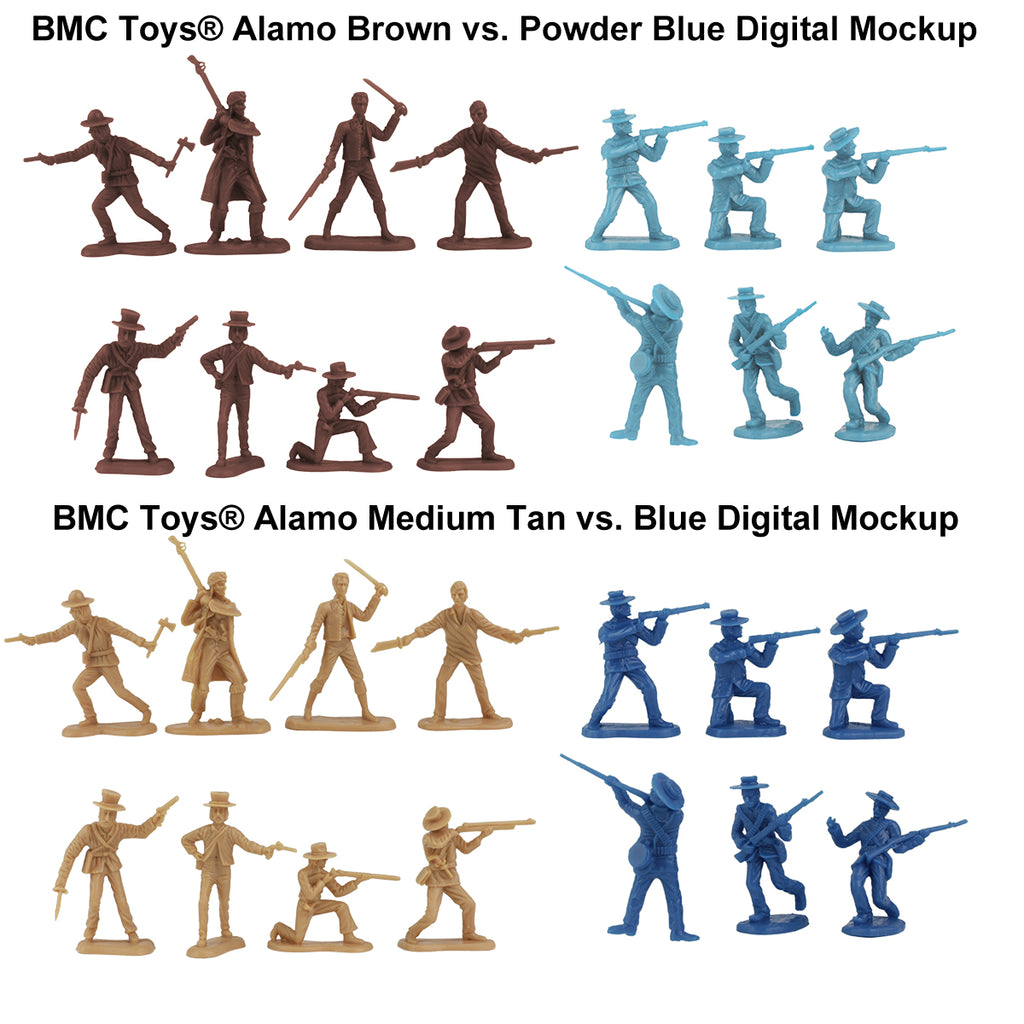 BMC Toys Alamo Figure Color Mockups