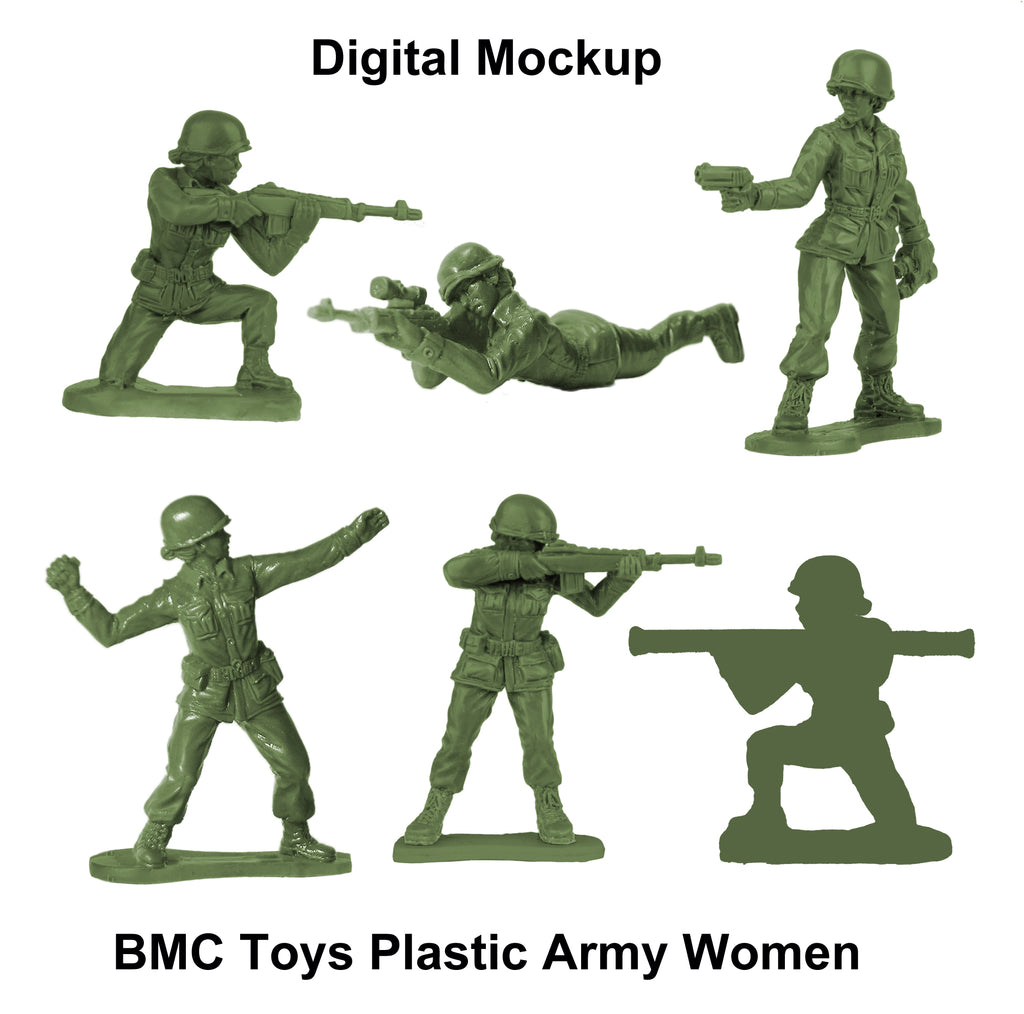 BMC Toys Plastic Army Women Digital Mockup
