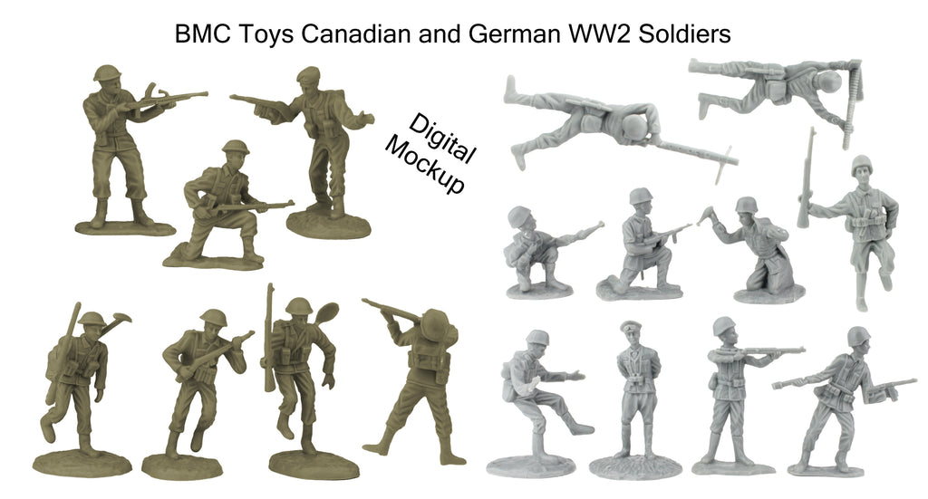 BMC Toys Canada and Germandy WW2 Soldier Figures Mockup