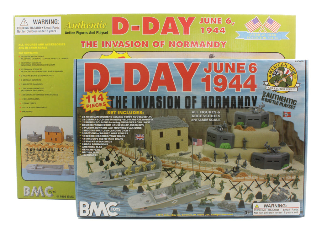 BMC Toys D-Day Playset Box 1998 vs 2017