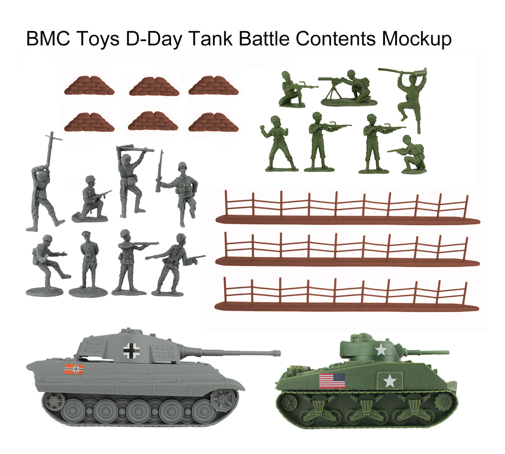BMC Toys D-Day Tank Battle Contents Mockup