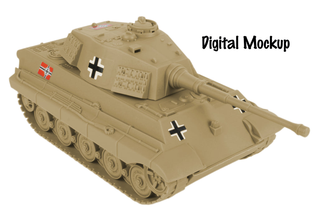 BMC Toys Tan German King Tiger Tank