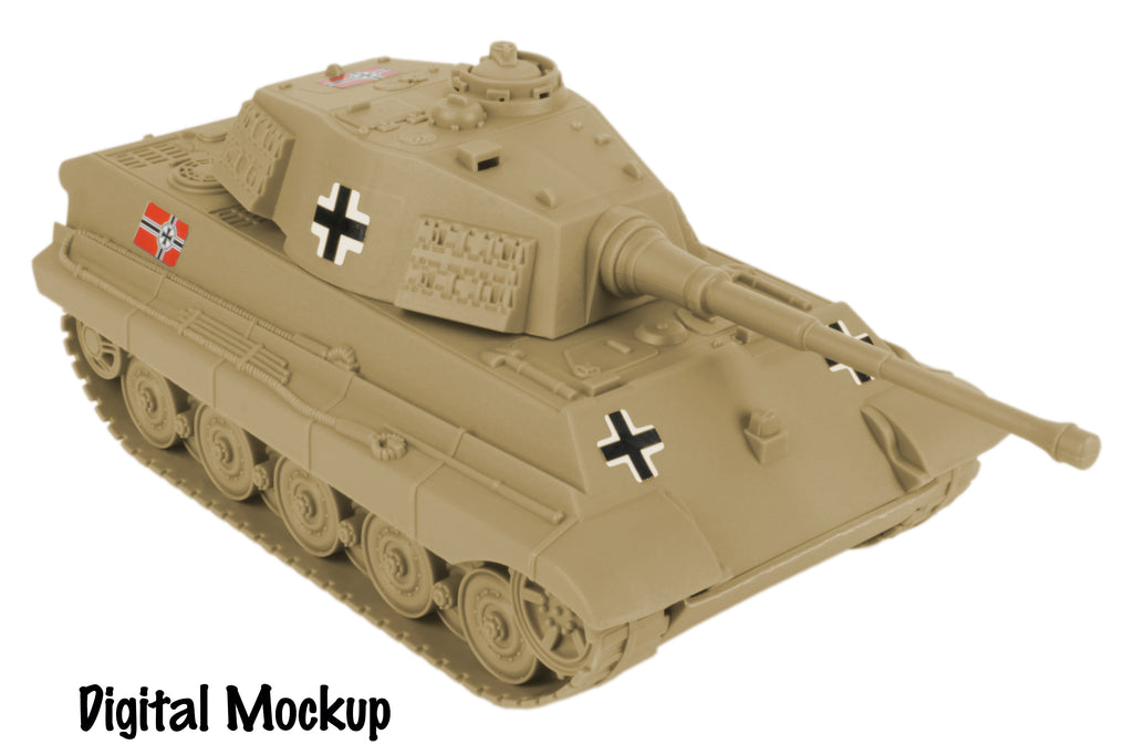 BMC Toys Tan German King Tiger Tank Mockup