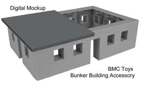BMC Toys Bunker Building with Roof Open