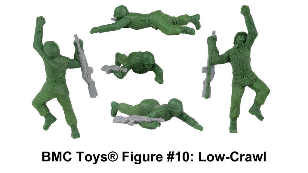 BMC Toys® Plastic Army Women Figure #10: Low-Crawl Sculpt