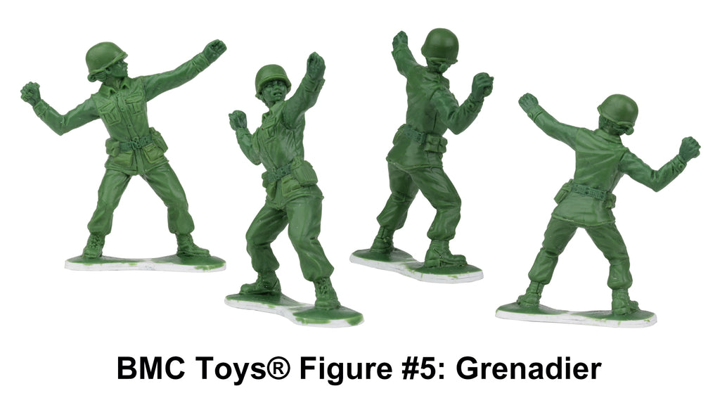 BMC Toys® Plastic Army Women Figure #5: Grenadier Sculpt