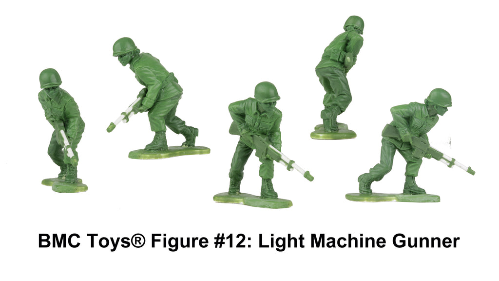 BMC Toys® Plastic Army Women Figure #12: Light Machine Gunner Sculpt