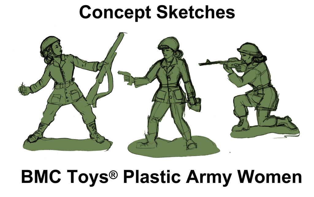 BMC Toys Plastic Army Women Toy Soldier Concept Art