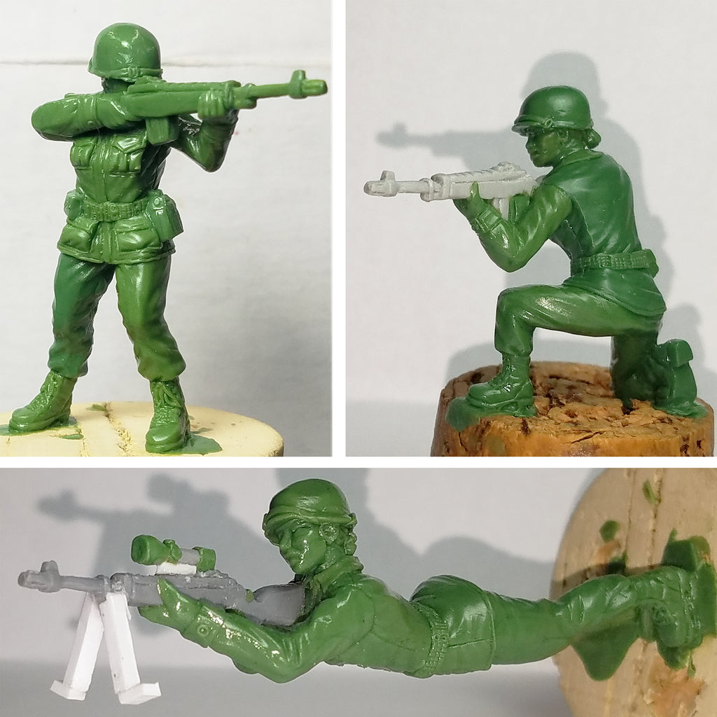 Toy Soldier Vintage Green Mix Stand Up Premium Card Cake Toppers
