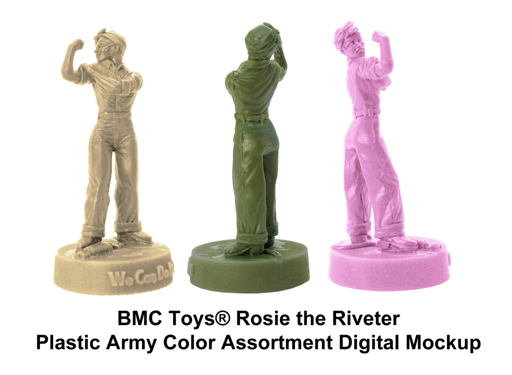 BMC Toys® Rosie the Riveter Plastic Army Women Color Mockup