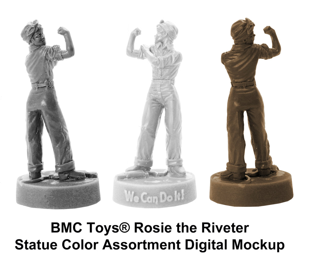 BMC Toys® Rosie the Riveter Statue Color Mockup