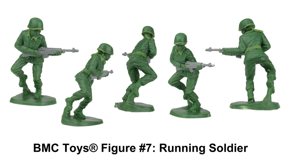 BMC Toys® Plastic Army Women Figure #7: Running Soldier Sculpt