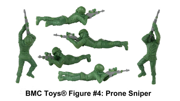 BMC Toys® Plastic Army Women Figure #4: Prone Sniper Sculpt