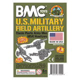 BMC Classic Marx US Military HOWITZERS - OD Green 3pc Plastic Army Men Field Artillery