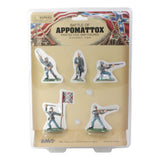 BMC Civil War Confederate Soldiers: 5 Painted 54mm Plastic Army Men Figures