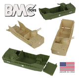 BMC Classic Marx Landing Craft - 4pc Tan vs. OD Green Plastic Army Men Vehicles
