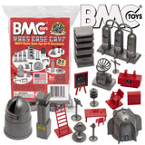BMC Classic Sci-Fi Mars Base Camp - 24pc Plastic Army Men Space Accessory Playset