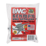 BMC Classic WW2 German 88mm Artillery - 2pc Gray PLASTIC ARMY MEN Accessories