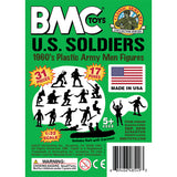 BMC Marx Plastic Army Men US Soldiers - Green 31pc WW2 Figures - Made in USA