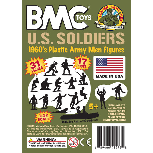 BMC Classic Marx US Marines - OD Green 31pc WW2 Soldier Figures - Made in USA