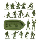 BMC Marx Plastic Army Men US Soldiers - OD Green 31pc WW2 Figures - Made in USA