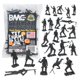 BMC Classic MPC German Plastic Army Men - Black 36pc WW2 Soldier Figures - Made in USA