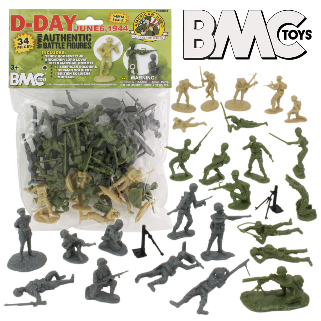Army Toys Color : Bmc d day ww plastic army men toy soldiers brit